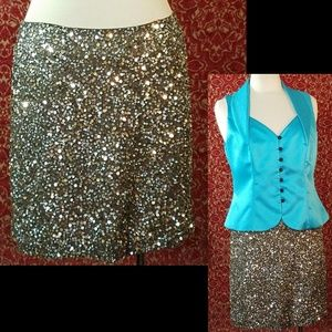 VINCE sequin above knee skirt 6